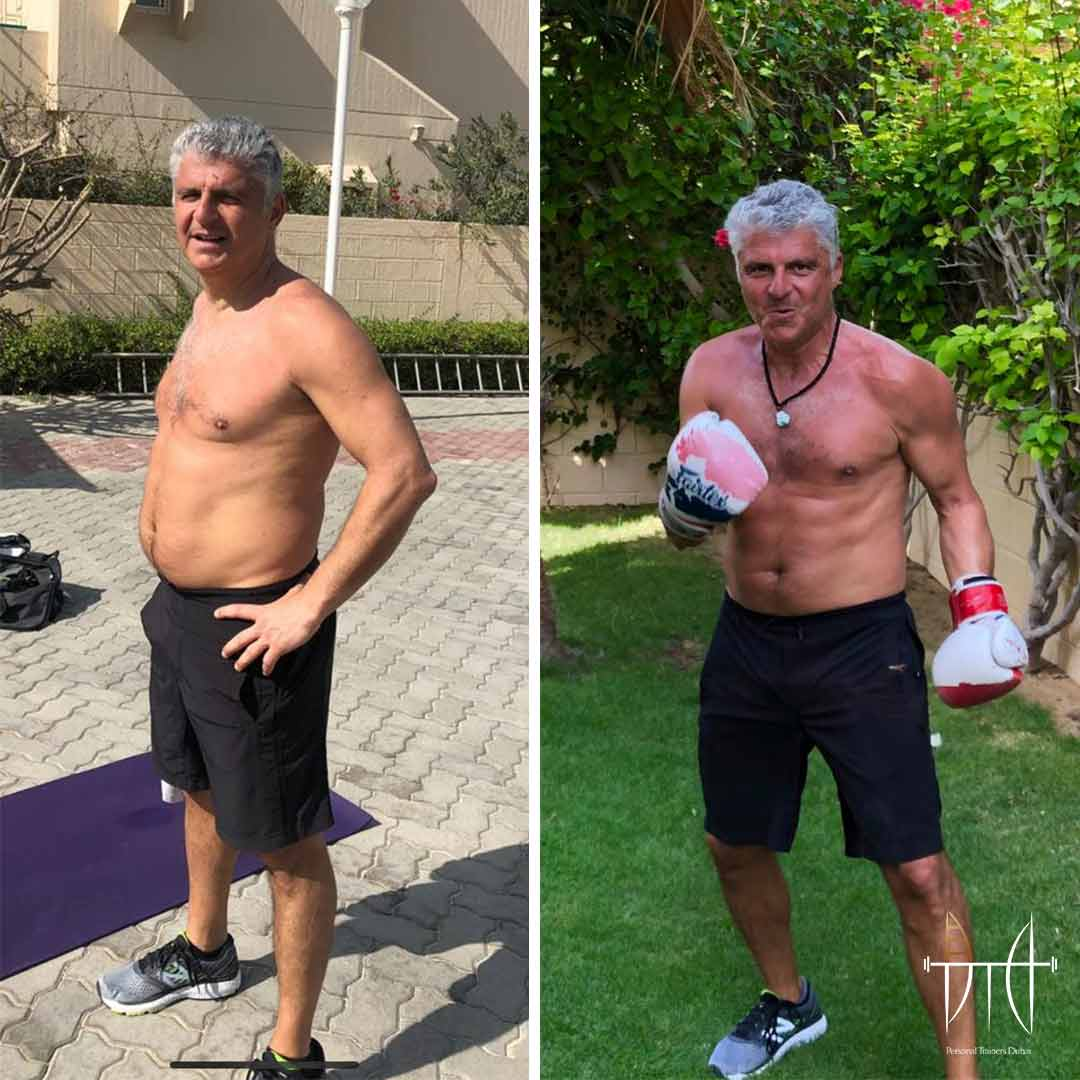 Real Client Transformation Personal Trainer Dubai